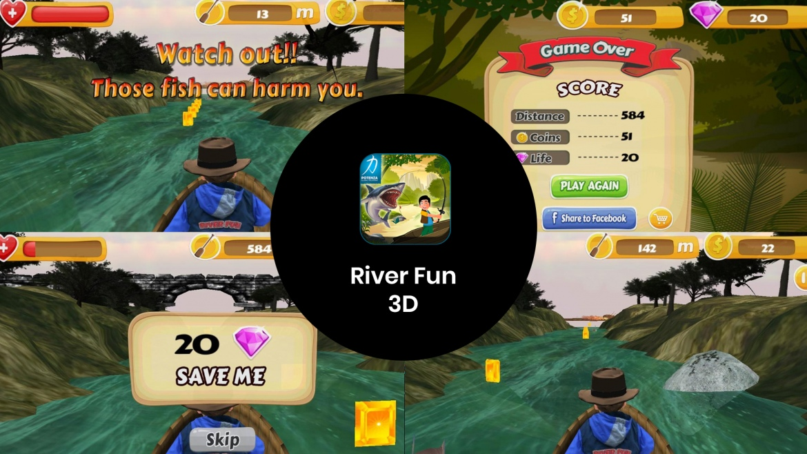 River Fun 3D - Get Thrilled by Exciting Game created by Potenza