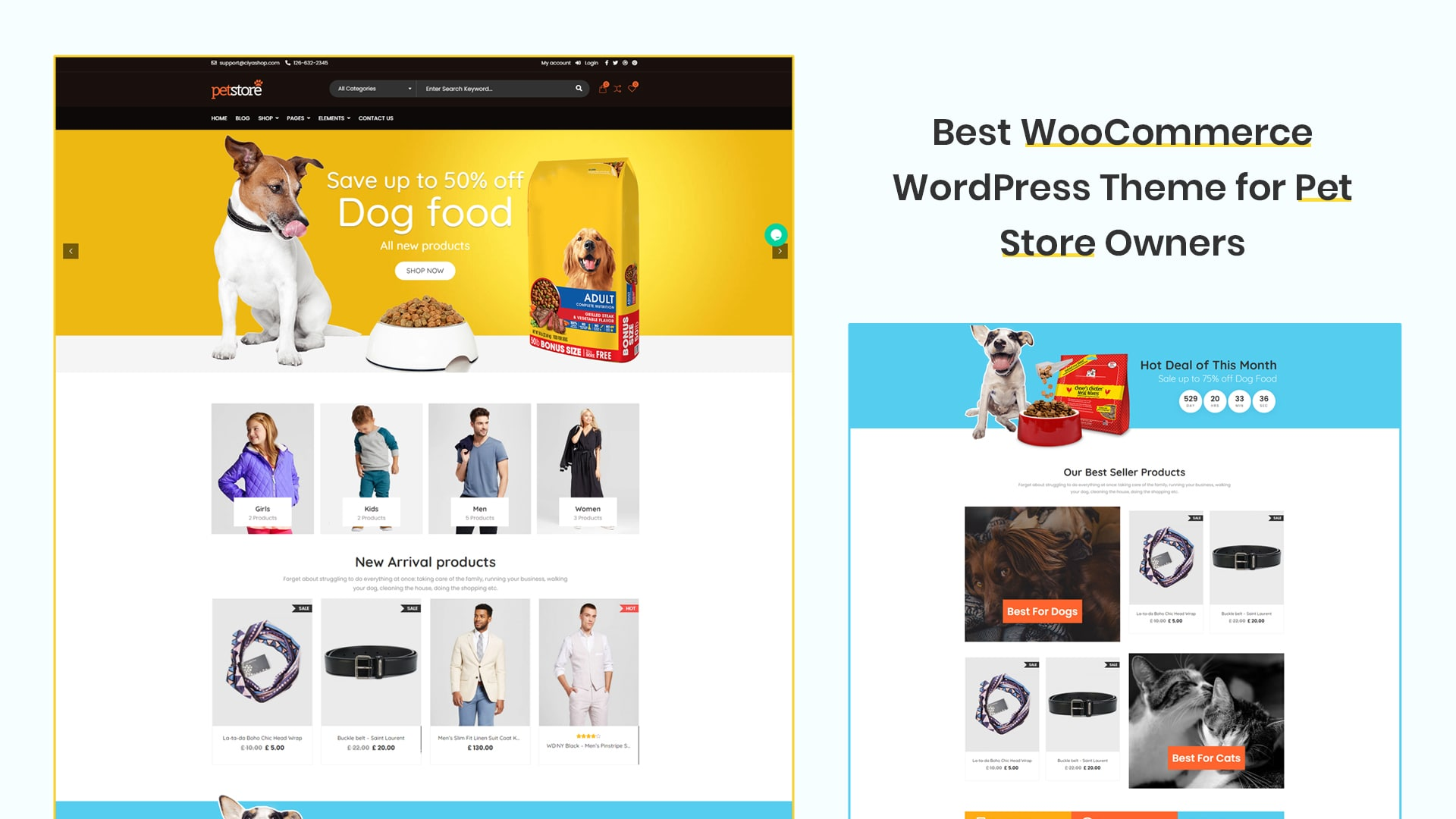 Best WooCommerce WordPress Theme for Pet Store Owners