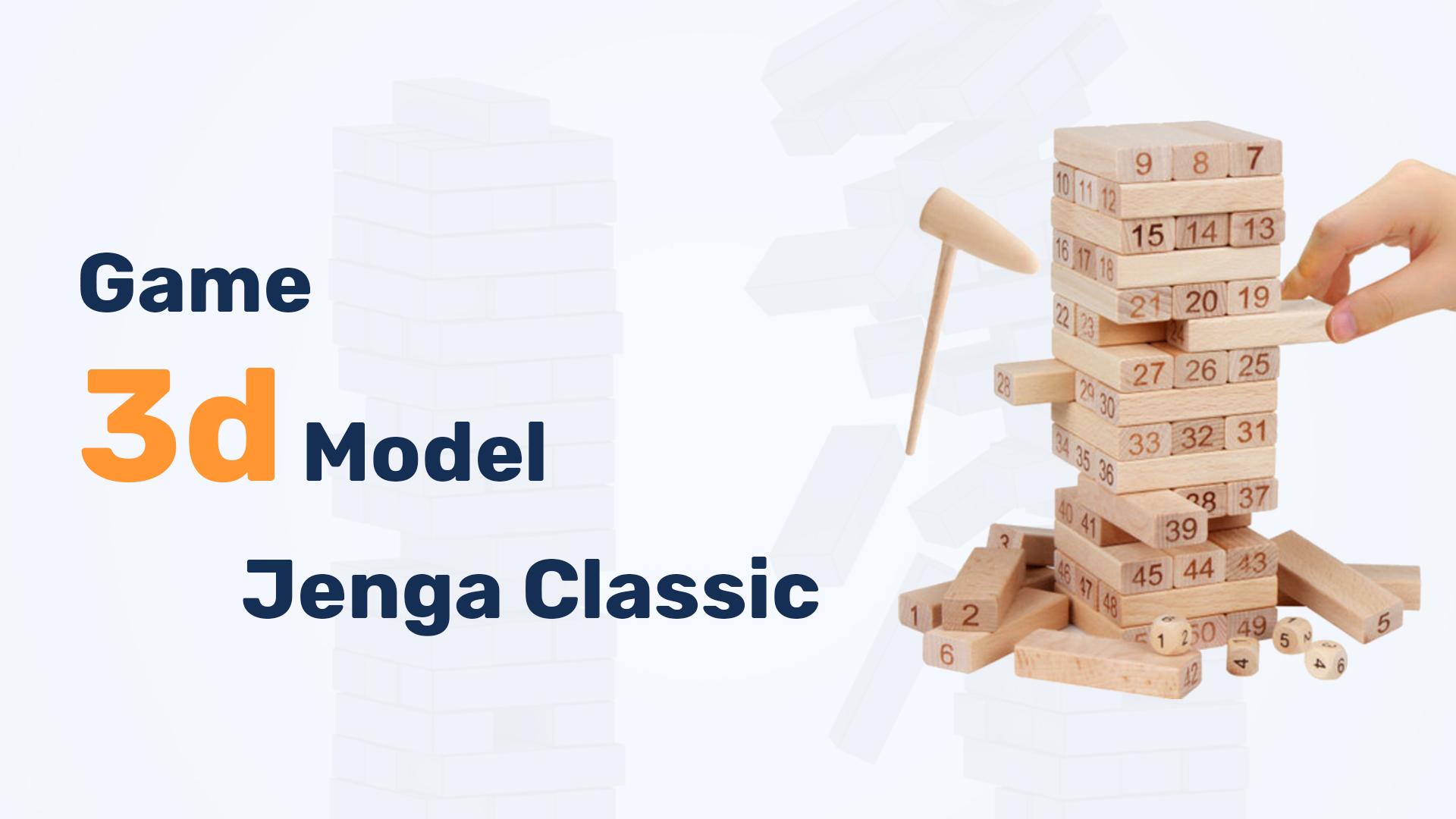 Jenga Classic Game 3d Model